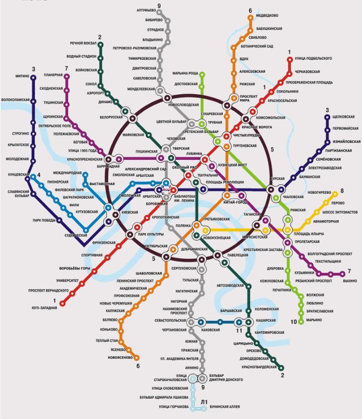 В результате схема метро в
